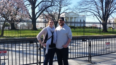 Aaron and I in front of the White House