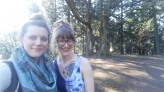 Emily and I at Mt. Tabor Park, Portland